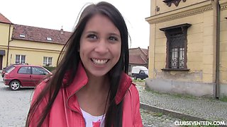 Reality casting in the streets with amateur Czech chick Paula O