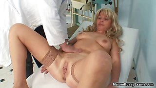 Horny fake doctor abusing a sexy