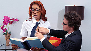Jenna Foxx & Robby Echo in Banging The Bookworm - BRAZZERS