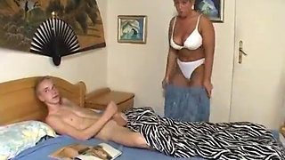 Mom Catches Son Jerking Off