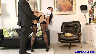 British glamcore milf in stockings