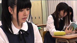 Abe Mikako Gets Massive Bukkake Face In Classroom