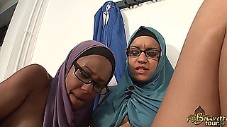 two very hot arab girls in a very erotic lesbian clip with a strap-on (french)