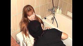 Large milk cans asian hottie masturbation in shower