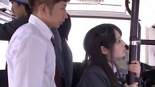 Best Japanese girl Ruka Kanae in Horny Bus, Public JAV clip