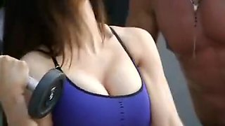 Horny Bitch Fucking in Gym