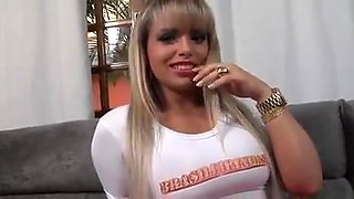 Sexy Brazilian Gets Gangbanged
