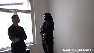 Nikky Dream is wearing a head scarf while fucking a man, because it turns him on