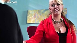 Big Melon Tits Girl (krissy lynn) Get Bang Hardcore In Office clip-24