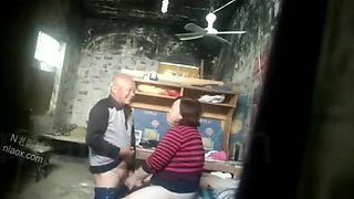 Chinese old man and prostitute