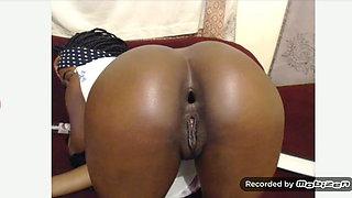 Ebony gape