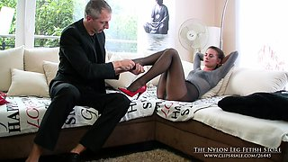 Billiard table is the best place for nylon foot games with a