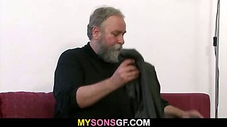 Dad punishes his son\'s GF