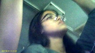 Candid voyeur of latino woman&#039s armpit on bus 4