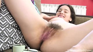 Melody Sweet strips naked in her kitchen - Compilation - WeAreHairy