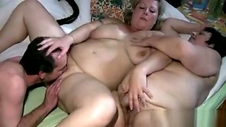 Granny And Her Nurse Have A Threesome