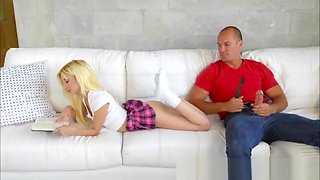 Petite blonde Piper Perri fucks her stepbros monster cock