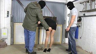 German slave slut getting used