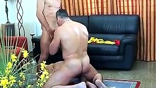 Mature lovers invite a hung guy for a hot bisexual threesome