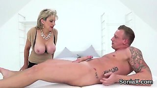 Unfaithful english milf lady sonia shows off her massive hoo