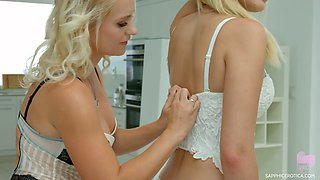 Rosella Visconti and her GF know how to take sex to another level of wet