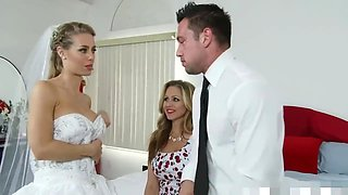 hard fuck with bride and her mom