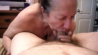 My friend's granny gave me a blowjob and let me fuck her