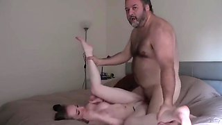 Shy Innocent Teen Loves Her 60Yo Owner of an Apartment