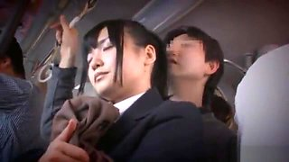 Japanese groped and sprayed on bus