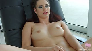 Stunning Hungarian chick Gia Mulino is masturbating her snatch with sex toys