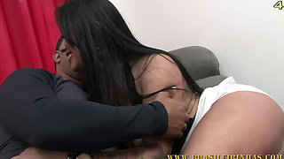 Two hot girls Angelina Dayer and Mirela share a dick