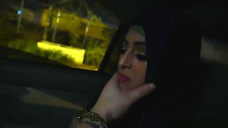 Arab gal swallows the boss mans cock deep throat