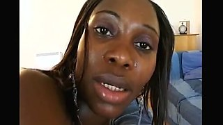 African slut enjoying pussy ass mouthfuck by 3 men