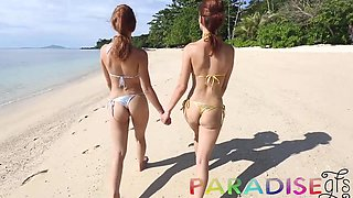Fox Twins Stripping Outdoors - ParadiseGFs