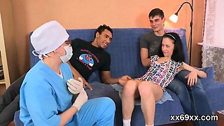 Physician looks hymen examination and virgin nympho reaming6