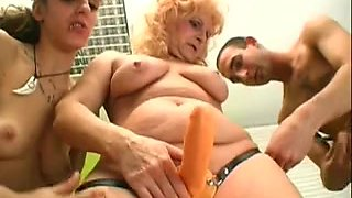 Grannies fuck chaps and beauties