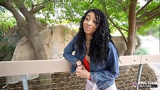 Real Teens - Petite Ebony Amateur Doing Porn Audition