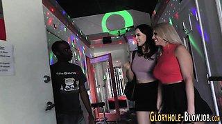 Gloryhole ho jugs spermed