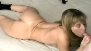 Milf Plays With Clit And Sucks On A Cock