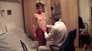 Pervert doctor in action again with innocent russian girl
