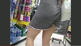 no panties or bra shopping
