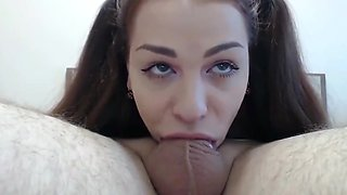 Sexy Teen Gives Perfect Deepthroat Blowjob Her Ex Boyfriend