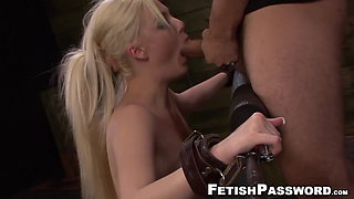 Bound blonde slave Jenna Ivory roughly fucked and dominated