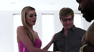 Blonde wife gets facial after hardcore