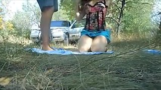 Insatiable brunette bends over and get nailed hard in the w