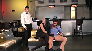 Glamorous Euro Dp Banged And Fed With Jizz