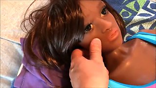 My black doll jizzed