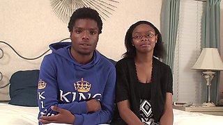Amateur Ebony Couple Get It On - Baby Gurl & Baby Boy