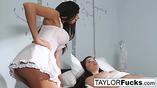 Sexy nurse kirsten checks taylor