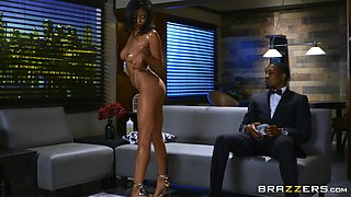 busty teen takes bbc
